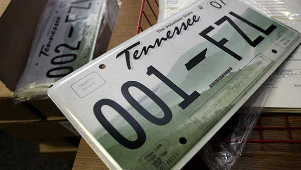 Tennessee car tags