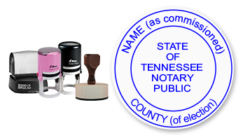 Various notary stamps for the State of Tennessee
